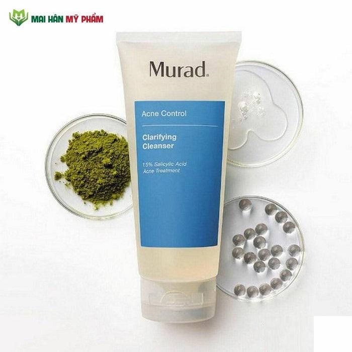 Gel rửa mặt Murad Clarifying Cleanser bước làm sạch không thể thiếu trong liệu trình trị mụn tận gốc