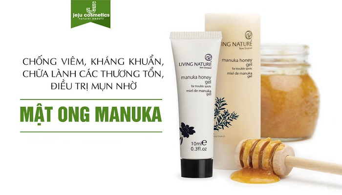 Gel trị mụn từ mật ong Manuka Honey Gel Living Nature với 2 dung tích 50ml và 10ml mang lại cho khách hàng nhiều sự lựa chọn