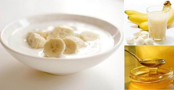 Mặt nạ sữa chua không đường, mật ong và chuối giúp làn da tươi sáng rạng ngời