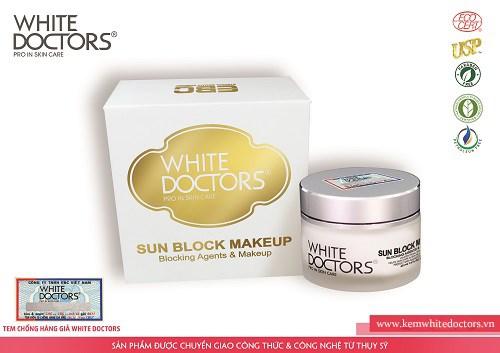 Kem chống nắng trang điểm mặt White Doctors