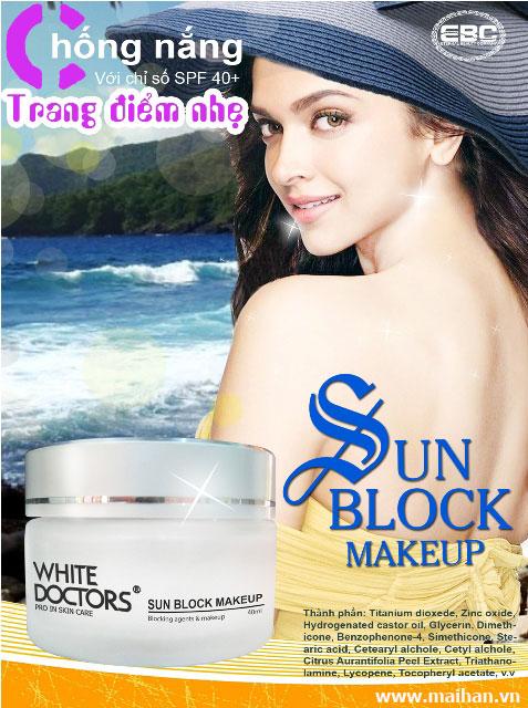 Với kem chống nắng trang điểm White Doctors làn da bạn được bảo vệ tốt nhất