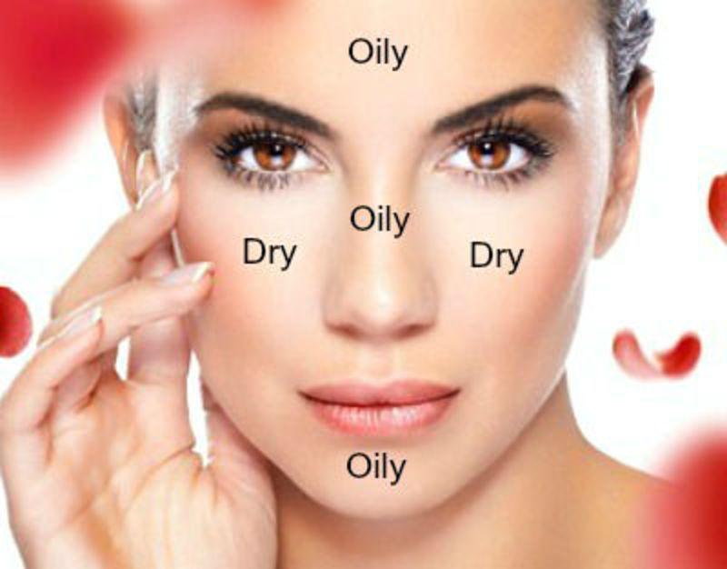 Da hỗn hợp là loại da kết hợp giữa da dầu và da khô