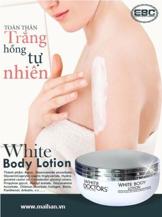 6 công dụng tuyệt vời của kem dưỡng thể trắng da White Doctors