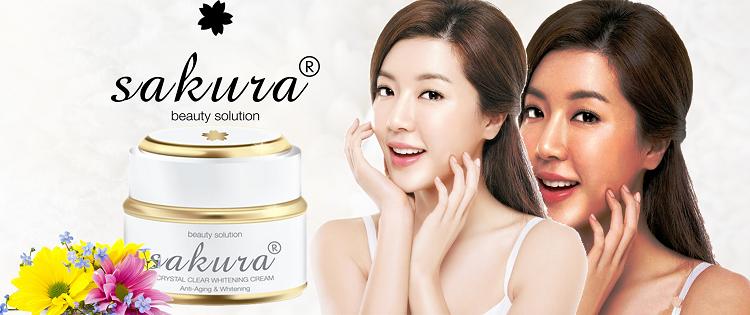 Kem dưỡng trắng da chống lão hóa Sakura Anti-Aging & Whitening Cream giúp duy trì làn da không tuổi