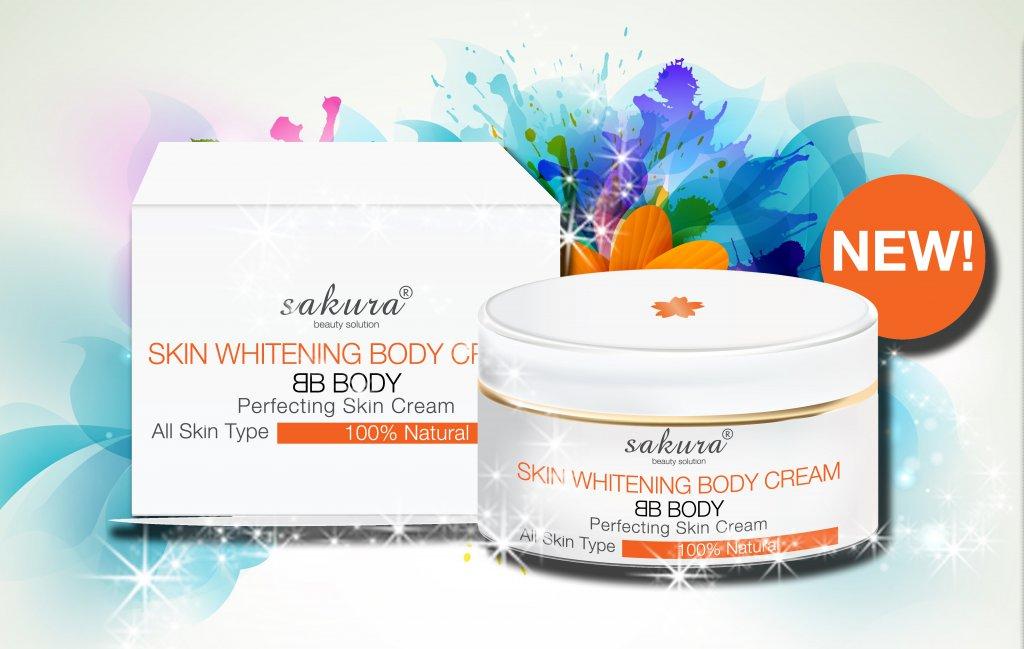 Kem dưỡng trắng da trang điểm toàn thân Sakura thích hợp với mọi loại da