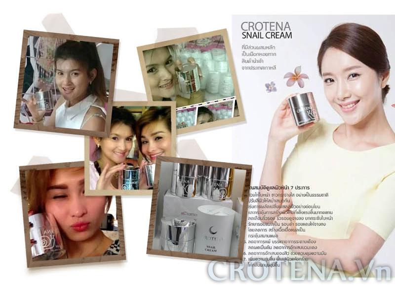 Tại Thái Lan kem dưỡng trắng da ban ngày Crotena Snail Cream đang rất được ưa chuộng
