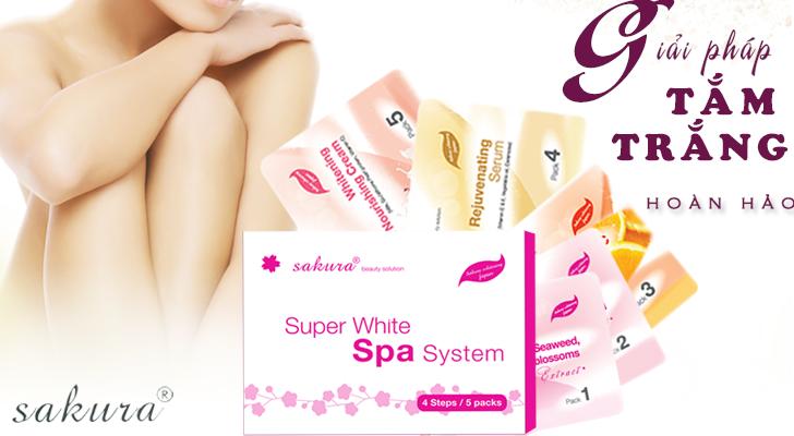 kem tắm trắng cao cấp tiêu chuẩn Spa Sakura Super Whitening