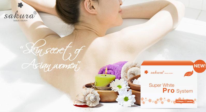 Bộ kem tắm trắng  tiêu chuẩn Spa Sakura Super White Pro System