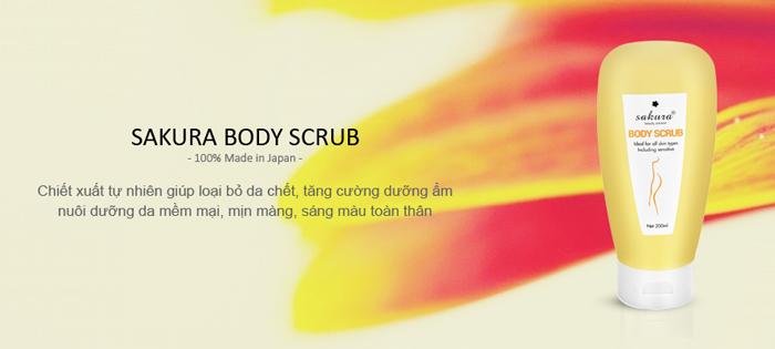 Tẩy tế bào chết Sakura Body Scrub