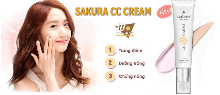 Kem Dưỡng Da Trang Điểm Sakura Cc Cream Với Tone Màu Fair