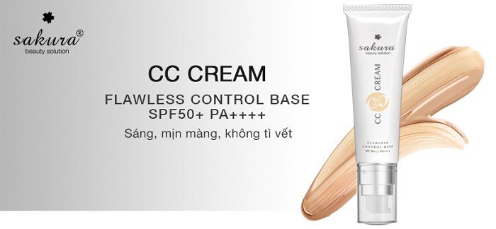Kem dưỡng da trang điểm chống nắng Sakura CC Cream cho bạn 1 làn da hoàn hảo