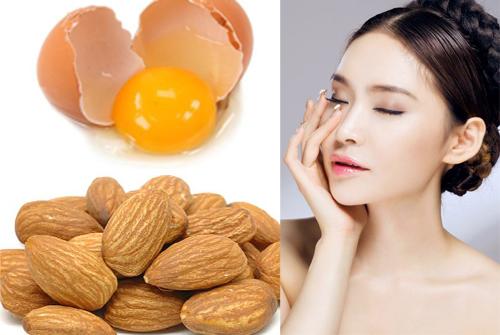 Mặt nạ trứng gà và hạnh nhân thực hiện rất đơn giản và nhanh chóng