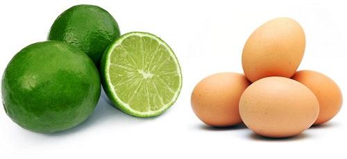 Mặt nạ lòng trắng trứng và chanh cho da sạch mụn hiệu quả