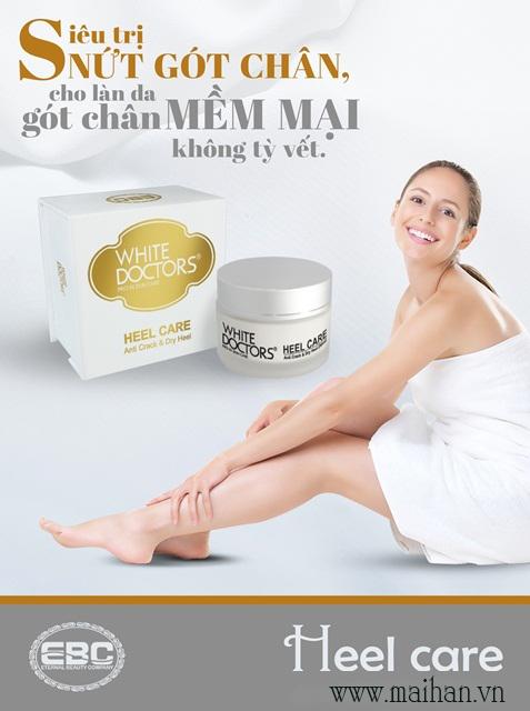 Gót chân hồng hào và mềm mịn với kem trị nứt gót chân chân White Doctors (Heel Care)