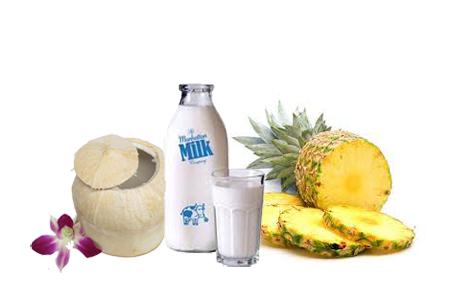 Dứa và sữa tươi khi kết hợp với nhau sẽ làm tăng tác dụng trị nám và cải thiện màu sắc của làn da.