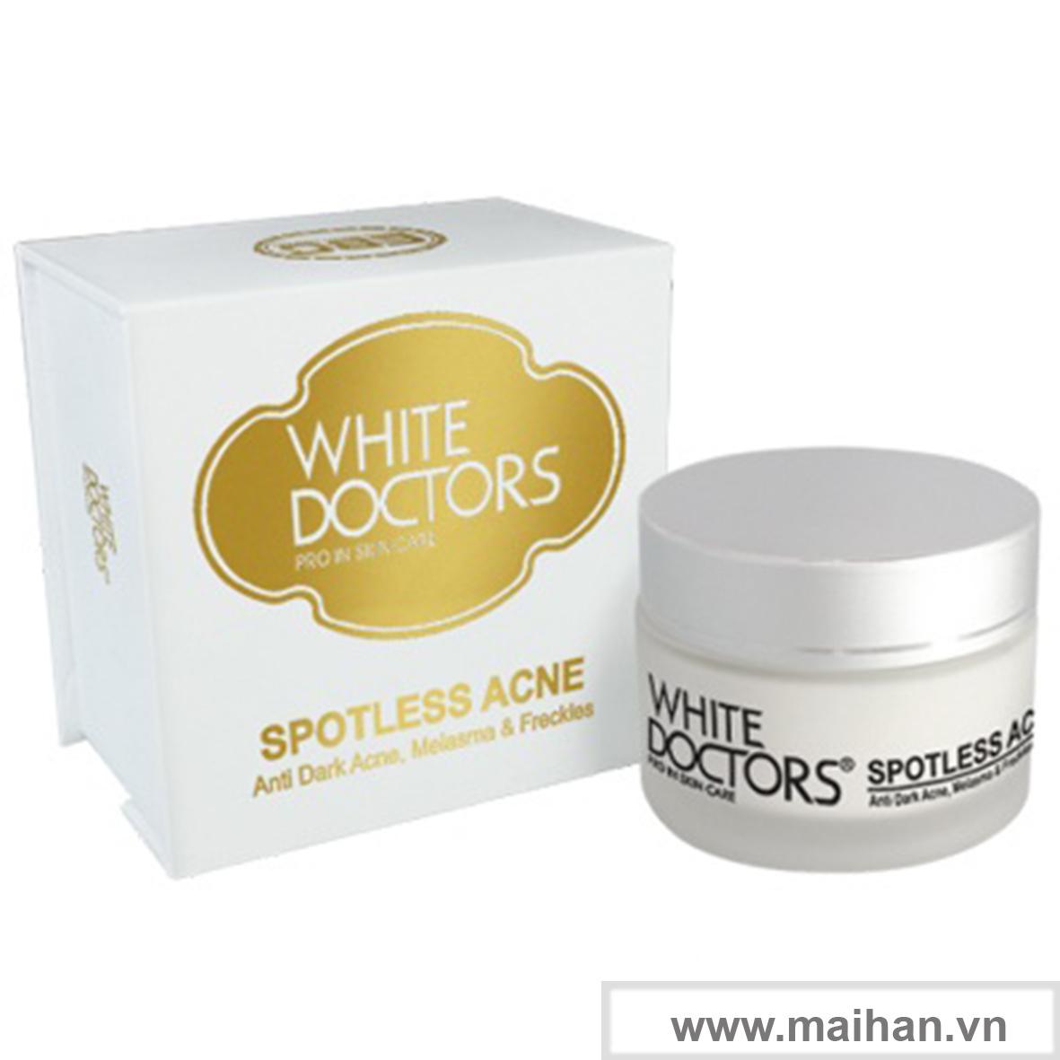 Kem chữa thâm mụn làm trắng da White Doctors (Spotless Acne)