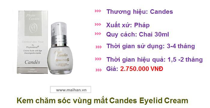 Kem trị thâm quầng mắt Candes có giá 2.750.000 VNĐ có đắt không?