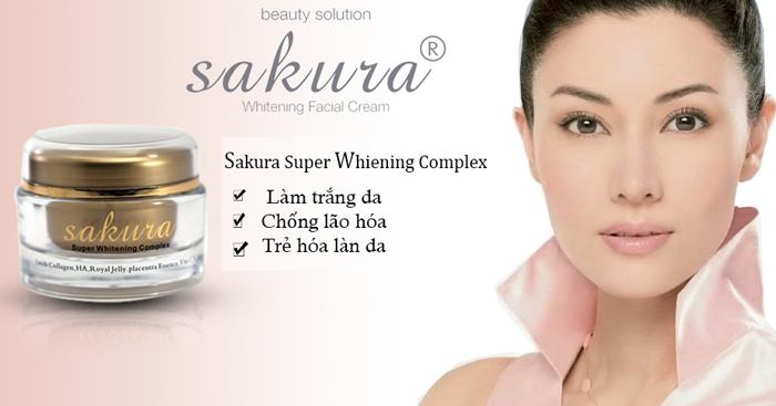 Kem dưỡng siêu trắng da chống lão hóa Sakura Super Whitening Complex