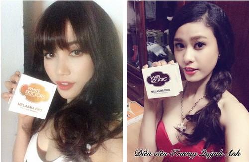 Hot girl An Phương và Kelly Nguyễn là tín đồ yêu thích kem trị nám thể nặng White Doctors