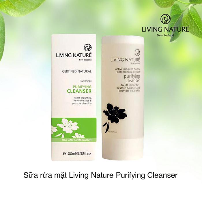 Sữa rửa mặt thanh lọc Living Nature làm sạch da tối ưu mà không gây khô da