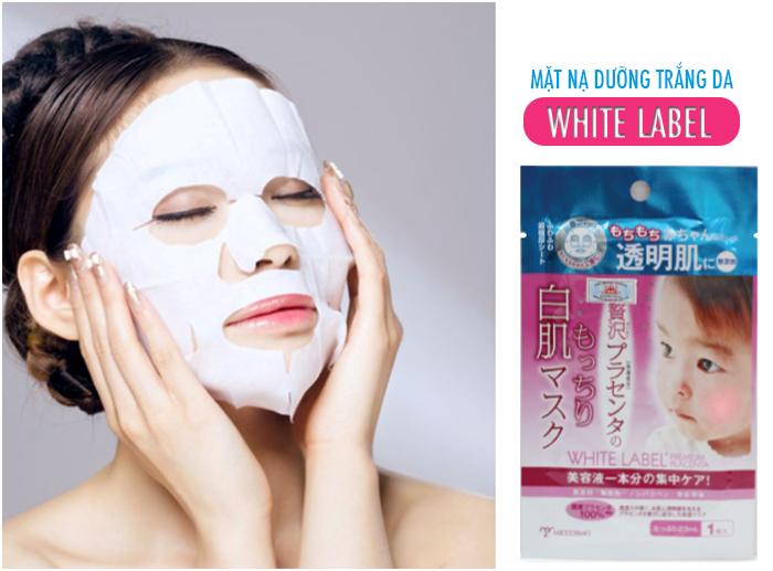 Mặt nạ dưỡng trắng da White Label cho làn da trắng hồng