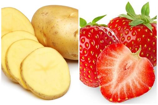 Làm đẹp da bằng mặt nạ khoai tây sữa chua và dâu tây