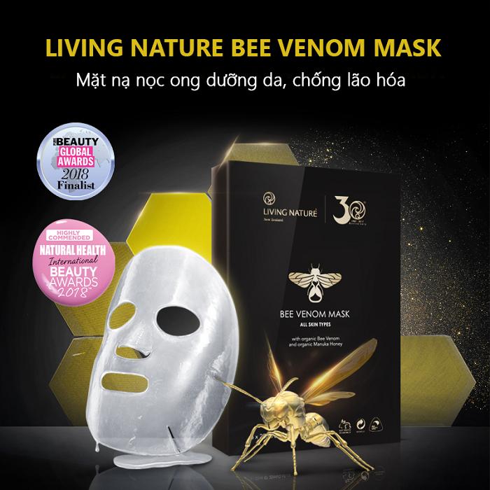 Làn da lão hóa cải thiện rõ rệt sau khi sử dụng mặt nạ nọc ong Bee Venom Mask
