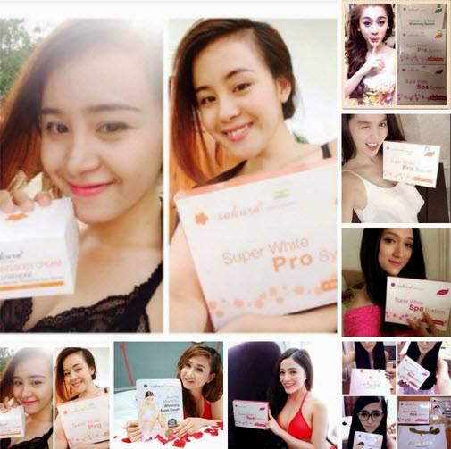 Hàng trăm hot girl Việt đang tin tưởng sử dụng bộ sản phẩm dưỡng trắng da Sakura trong đó có Diễm Mỹ 9x, người mẫu Ngọc Trinh...