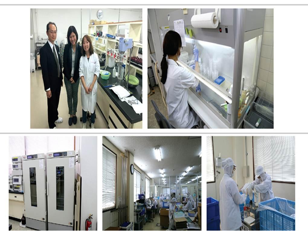 Hình ảnh các nhà khoa học nghiên cứu và quy trình sản xuất tại nhà máy