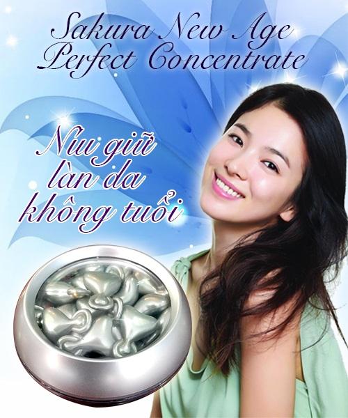 Serum dưỡng trắng da chống lão hóa Sakura níu giữ làn da không tuổi