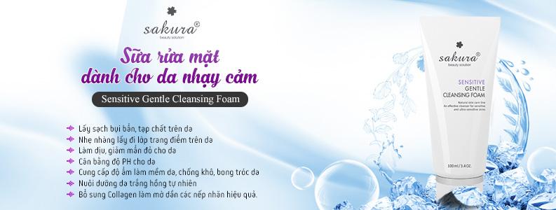 Sữa rửa mặt dành cho da nhạy cảm Sakura