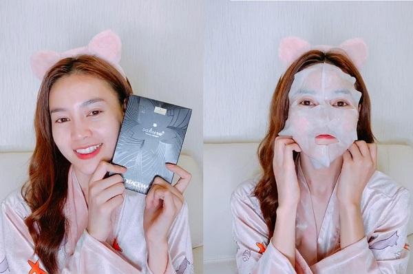 Mặt nạ nâng cơ sáng da Sakura cũng thuộc dòng sản phẩm yêu thích của diễn viên Ninh Dương Lan Ngọc