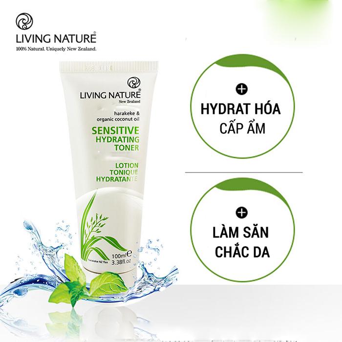 Nước cân bằng Sensitive Hydrating Toner Living Nature sự lựa chọn tốt nhất cho làn da nhạy cảm, da kích ứng