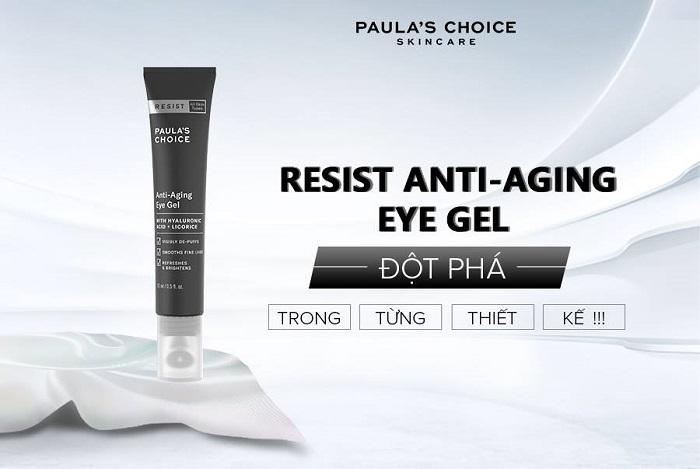 Trải nghiệm kết cấu dạng gel của siêu phẩm Resist Anti – Aging Eye