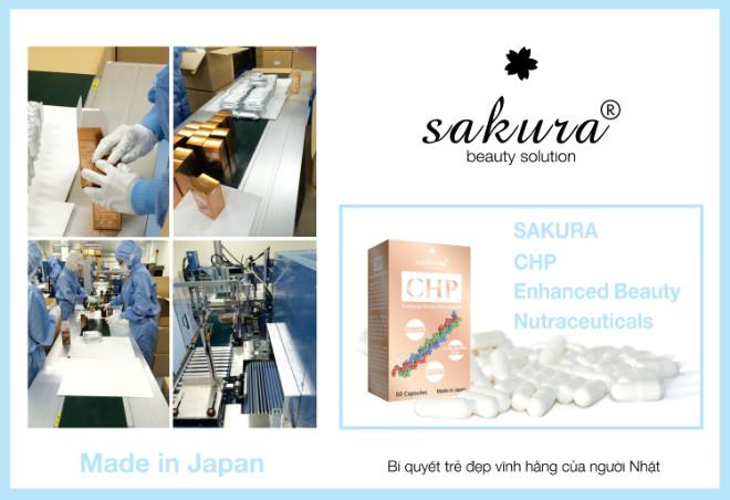 Quy trình sản xuất viên uống đẹp da Sakura tại nhà máy ở Nhật Bản