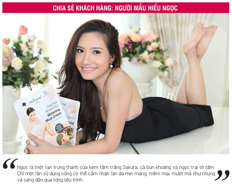 Chia sẻ của người mẫu Hiếu Ngọc về sản phẩm Kem tắm trắng ngọc trai Sakura