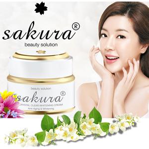 Kem dưỡng trắng da mặt chống lão hóa Sakura có tốt không?