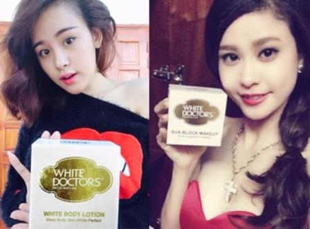 Nhiều hotgirl Việt ưa chuộng và tin dùng mỹ phẩm White Doctors