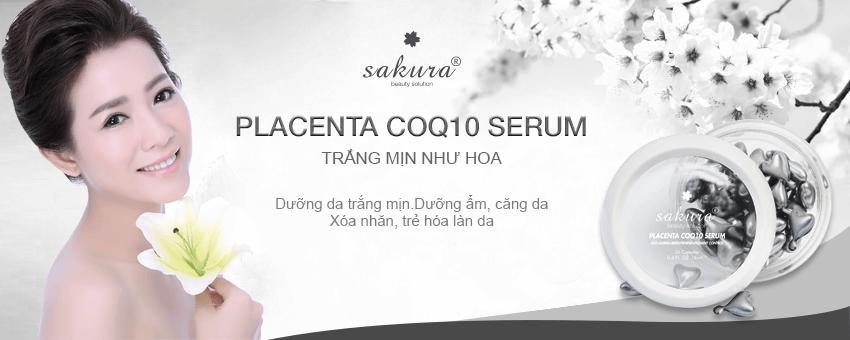 Serum dưỡng trắng da chống lão hóa Sakura cho làn da mịn đẹp, tươi mới như tuổi 20
