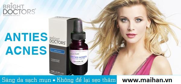 Serum trị mụn cho da nhờn Bright Doctors giúp sạch mụn và không để lại sẹo thâm