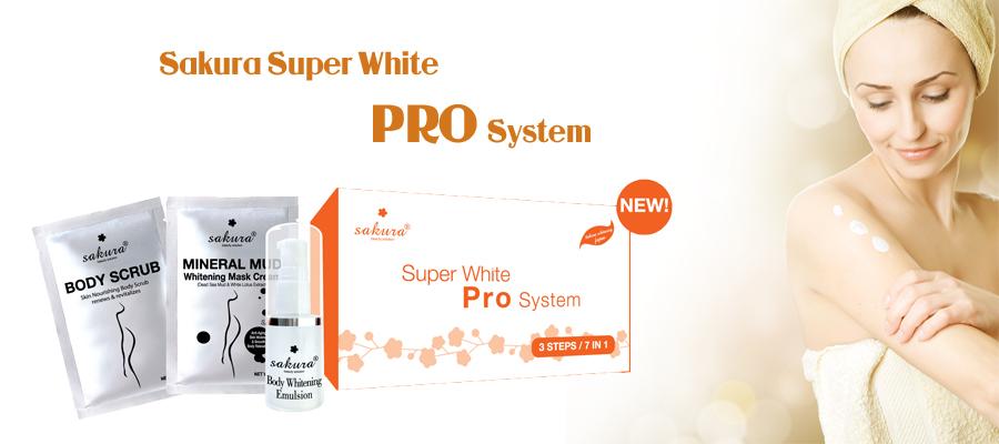 Bộ kem tắm trắng cao cấp tiêu chuẩn spa Sakura Super White Pro