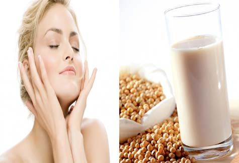 Sữa đậu nành giúp da thêm sáng khỏe và mịn màng