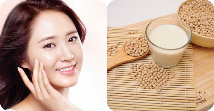 Trẻ hóa làn da hiệu quả nhờ sữa đậu nành