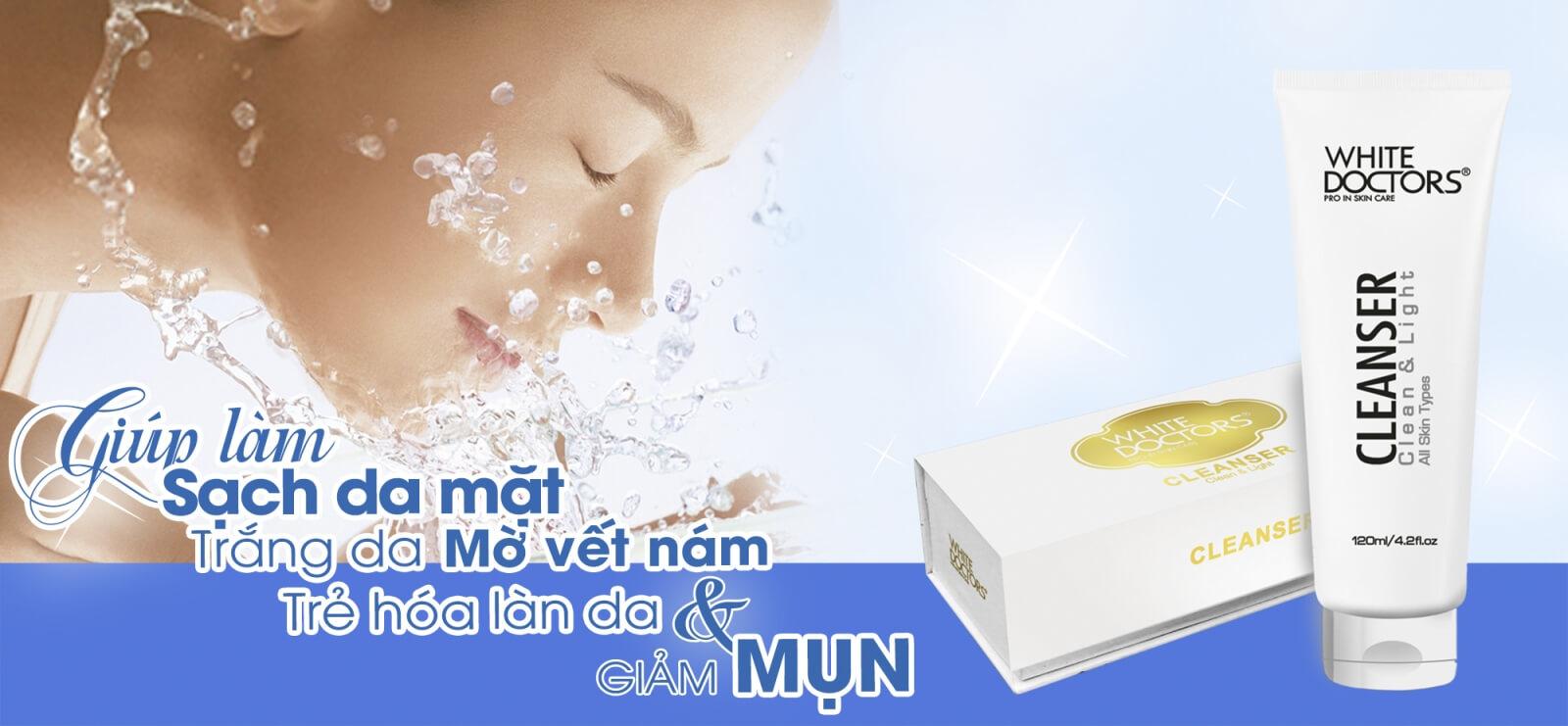 Sữa rửa mặt White Doctors làm sạch sâu giúp làn da dễ dàng hấp thu dưỡng chất từ kem trị nám