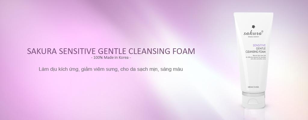 Sữa rửa mặt dành cho da nhạy cảm Sakura Sensitive Cleansing Foam