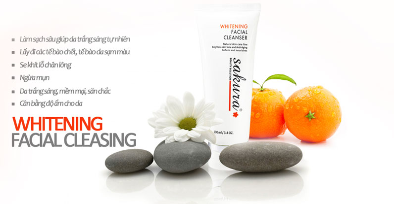 Sữa Rửa Mặt Trắng Da Sakura Whitening Facial Cleanser Giá Bao Nhiêu?