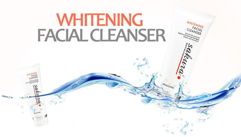 Sữa rửa măt trắng da Sakura giúp da sáng mịn và dễ dàng hấp thu các dưỡng chất của bước chăm sóc da kế tiếp