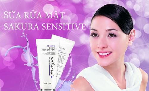 Sửa rửa mặt trị mụn dành cho da nhạy cảm Sakura có tốt không?
