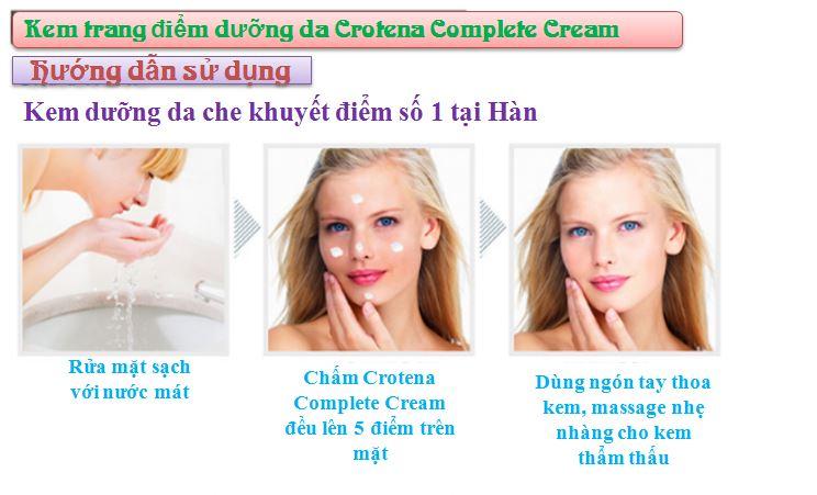 Hướng dẫn sử dụng Crotena Complete CC Cream