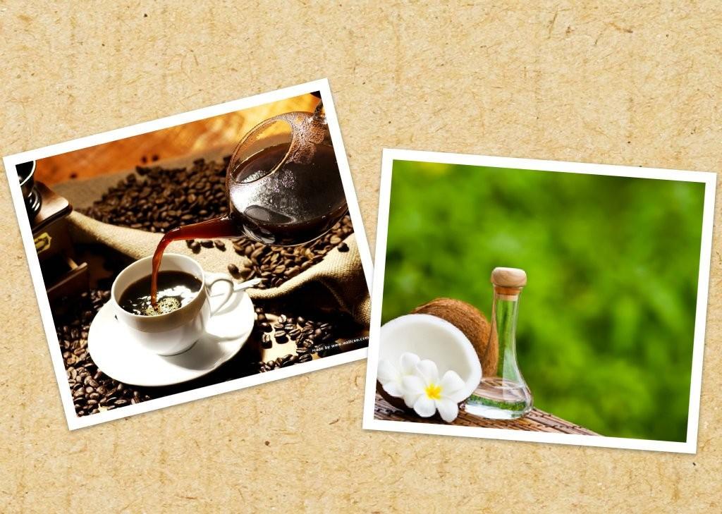 Cà phê và dầu dừa cho da mềm mịn và tươi sáng